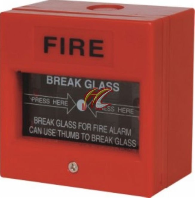 Flame-arming buttons for fire alarm
