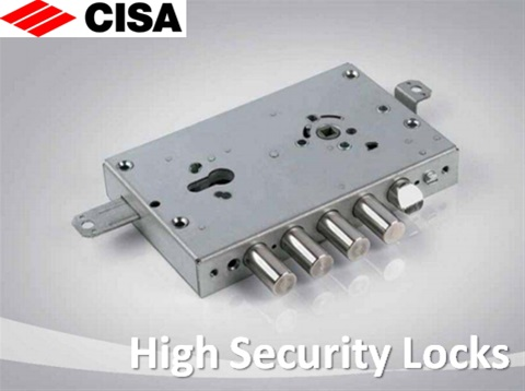Locks for armored doors